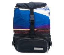 sunset scene backpack