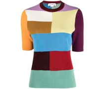 colour-block ribbed top