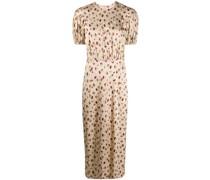 Kleid mit Himbeeren-Print