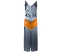 Drapiertes Kleid mit Colour-Block-Optik