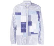 Gestreiftes Patchwork-Hemd