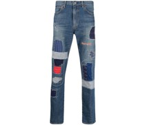 Jeans mit Patches im Distressed-Look
