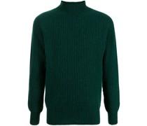 Gestrickter Pullover mit Stehkragen