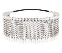 crystal embellished fringed headband