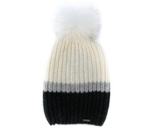 ribbed knit cashmere hat