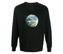 Sweatshirt mit Welt-Print