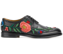 floral embroidered brogues
