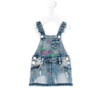 - denim skirt overalls - kids