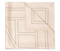 Schal mit Monogramm-Print
