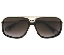 Sonnenbrille mit goldfarbenem Balken - unisex