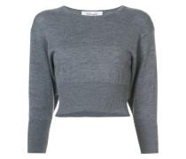 Cropped-Pullover mit Dreiviertelarm