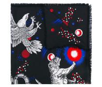 """Seidenschal mit """"Space Animals""""-Print"""