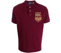 embroidered-design polo shirt
