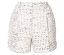 Tweed-Shorts in Metallic-Optik
