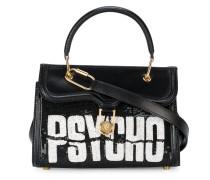 Handtasche mit 'Psycho'-Slogan