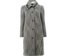 Mantel mit Schnalle in Tweed-Optik