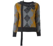 Verzierter Pullover mit Argyle-Muster