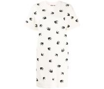 T-Shirtkleid mit Vogel-Print