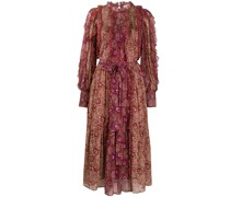 'Claret' Kleid im Patchwork-Look