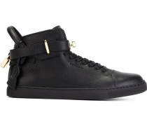 High-Top-Sneakers mit Riegel