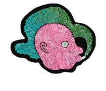 Taschenpatch mit Kopf-Motiv - women - Wool
