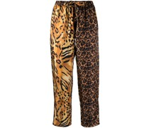 Hose mit Leoparden-Print