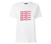 Hardcore slogan T-shirt