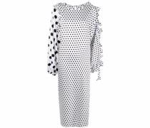 Asymmetrisches Kleid mit Polka Dots