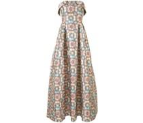 Lianna geometric print gown
