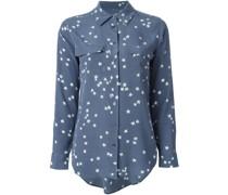 Seidenhemd mit Sternen-Print