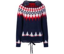Pullover mit Daunenkapuze