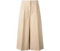 - Cropped-Hose mit weitem Bein - women