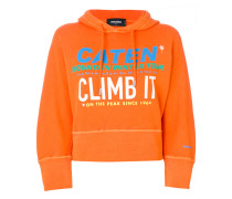 Climb It printed oversized hoodie