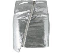 Metallic-Paillettenrock mit Reißverschluss