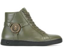 High-Top-Sneakers mit Löwenkopf