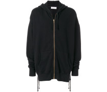 oversized side lace hoodie