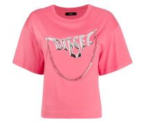 T-Shirt mit Ketten-Print