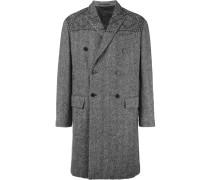 Doppelreihiger Mantel mit Fischgrätmuster