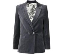 single-breasted velour blazer