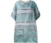 Jeanskleid mit Pailletten - women