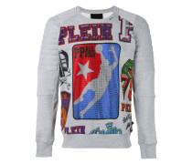 Pullover mit Logo-Print - men - Baumwolle - L
