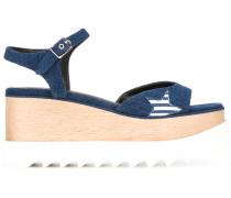 Flatform-Sandalen mit Stern