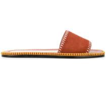 whipstitch detail sandals