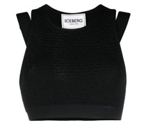 Texturiertes Cropped-Top