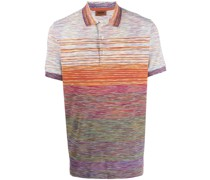 Meliertes Strick-Poloshirt