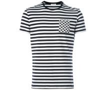 Gestreiftes T-Shirt mit aufgesetzten Taschen