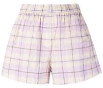 Karierte Seersucker-Shorts