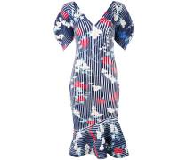 - Geripptes Kleid mit Print - women