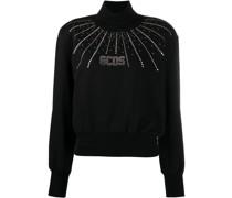 Sweatshirt mit Kristallen