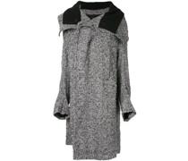 check print oversized coat
